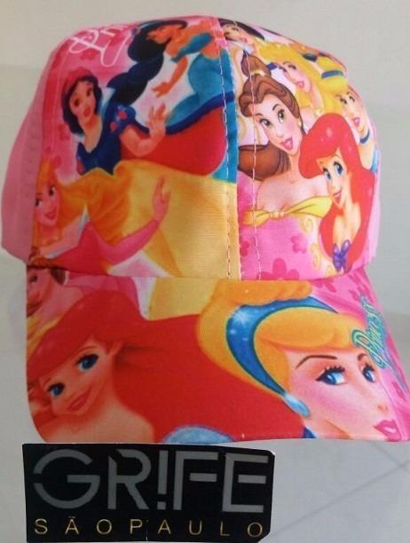 30ba3d8f81816 Kit 10 Boné Infantil Personagem Menino Menina Herói Princesa - R  62 ...
