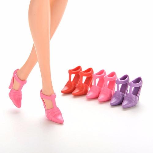 kit 10 boneca plástico brinquedo similar barbie artesanato