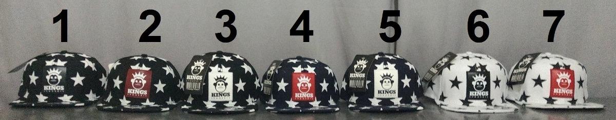 kit 10 bonés aba reta snapback kings sneakers stars estrela. Carregando zoom . bc21b5b68b3