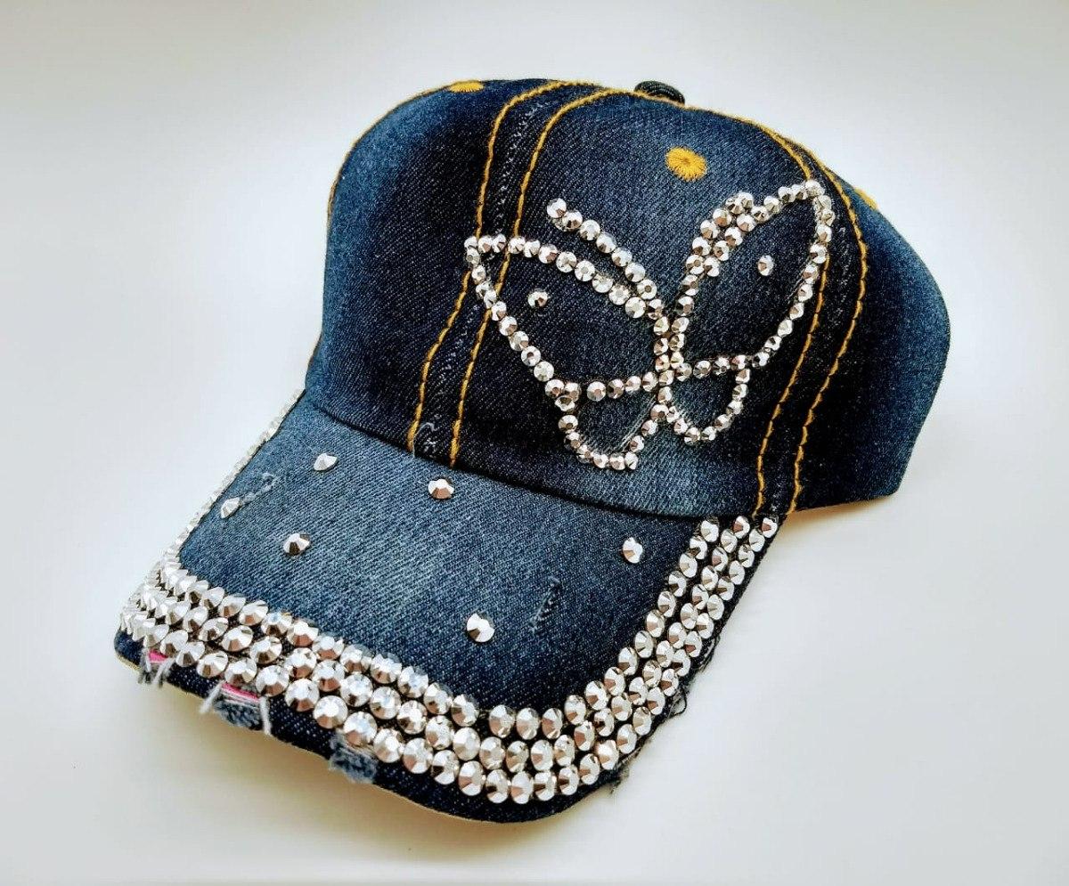 9179aa75a0709 kit 10 bonés feminino jeans strass brilho brilhante atacado. Carregando zoom .