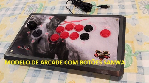 kit 10 botões sanwa genérico 30mm para arcade