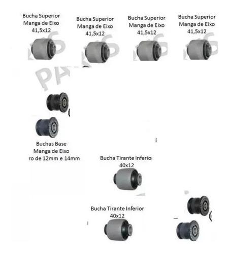 kit 10 buchas suspensão traseira honda civic 2001 até 2005