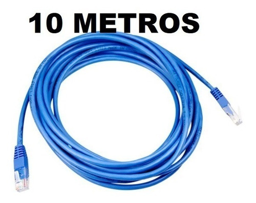 kit 10 cabo de rede patch cord cat5e 10m azul x-cell atacado