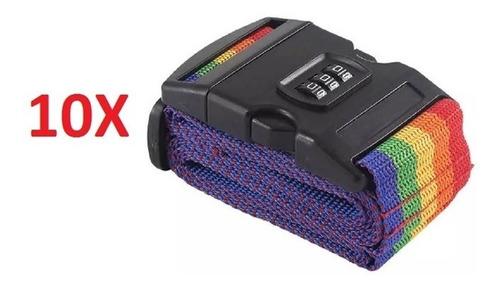 kit 10 cadeado cinta para fechar mala com codigo fita bagage