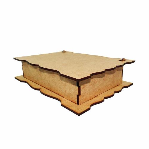 kit 10 caixa convite padrinhos casamento dobradiça em mdf