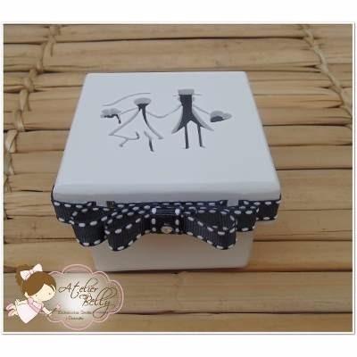 kit 10 caixinhas mdf pintada e com fita casamento festas