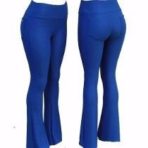 kit 10 calça flare legging/leg piquet colmeia