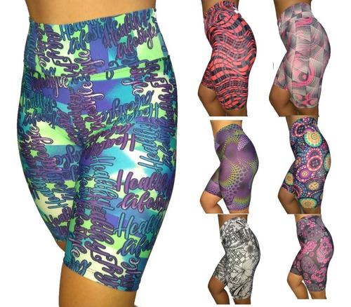 kit 10 calças +10 bermudas legging  fitness femininas oferta