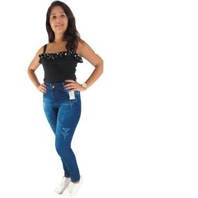 68d4602f9 Calça Jeans Feminina Atacado Lycra - Calças no Mercado Livre Brasil