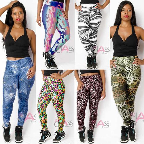 kit 10 calças legging roupas femininas moda fitness atacado