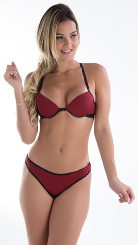 kit 10 calcinha e sutiã nadador lingerie revenda atacado bra