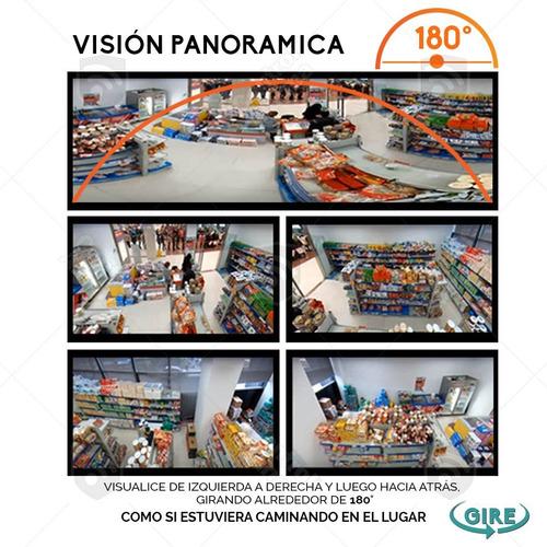 kit 10 camaras ip wifi 180 fish eye  960p hd altavoz dvr 128