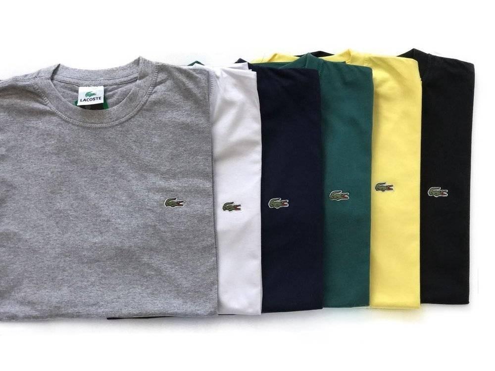 d6b627327dd kit 10 camisa basica gola redonda lacoste-frete gratis. Carregando zoom.