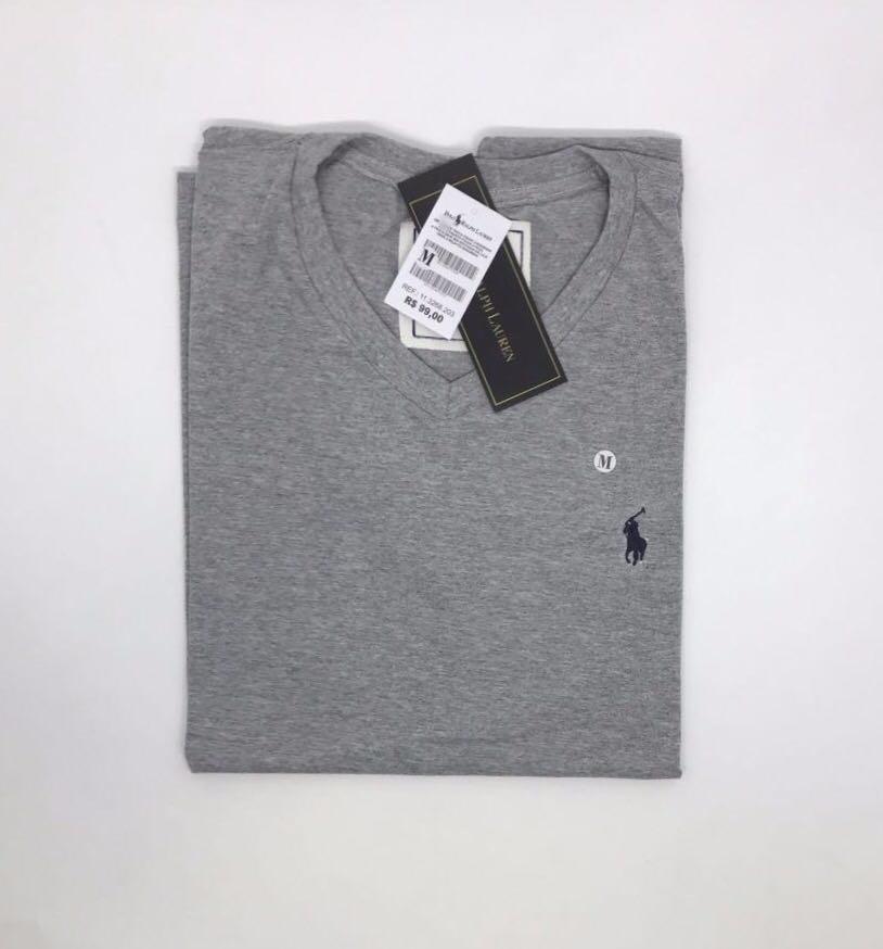 kit 10 camisa basica masculina gola v polo algodão atacado. Carregando zoom. 4b9cedcb837