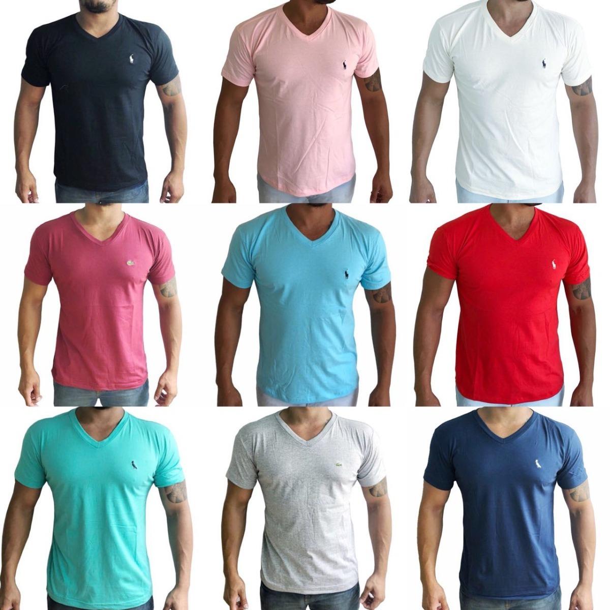 f5c02f458767f kit 10 camisa basica masculina gola v polo algodão atacado. Carregando zoom.