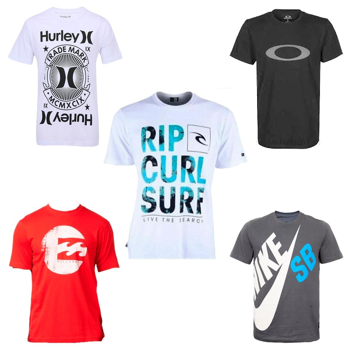 776b4674cddd3 Kit 10 Camisa Camiseta Masculina Marca Estampada Top - R$ 179,90 em ...