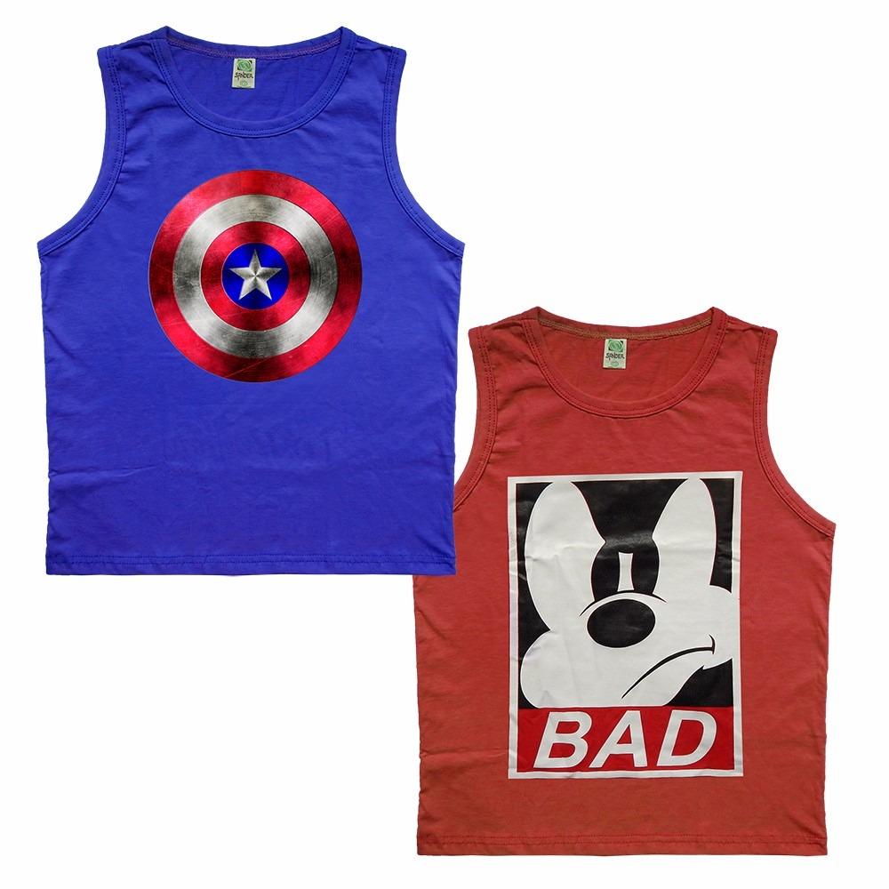kit 10 camisa camiseta regata juvenil infantil super heroes. Carregando zoom . abf7e5d0f0b