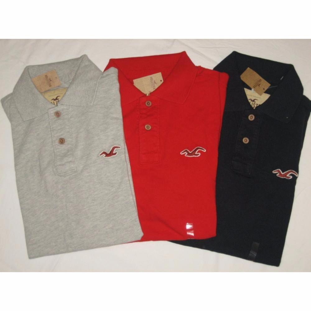 Kit 10 Camisa Gola Polo Hollister Camiseta Diversas Cores - R  229 ... dc6b761a9b492