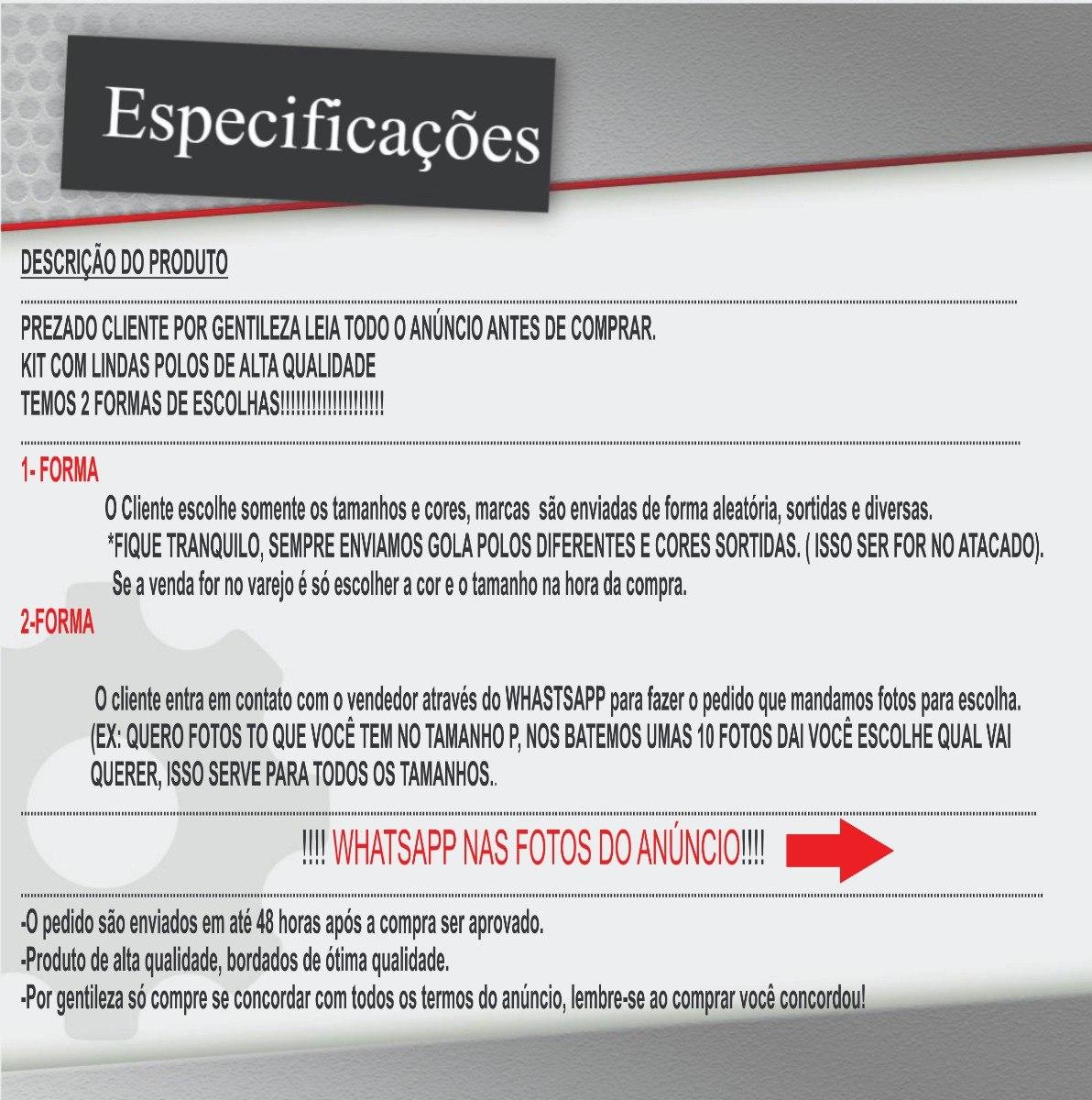 Kit 10 Camisa Gola Polo Masculina Varias Marcas- Promoção - R  299 ... 7f27c34acd