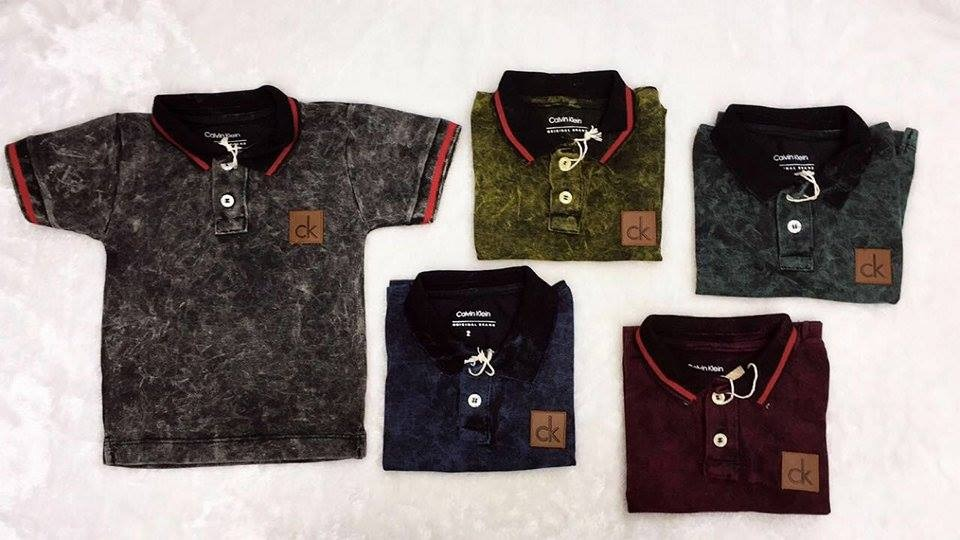 kit 10 camisa infantil gola polo ck calvin camiseta. Carregando zoom. 097babae23b35