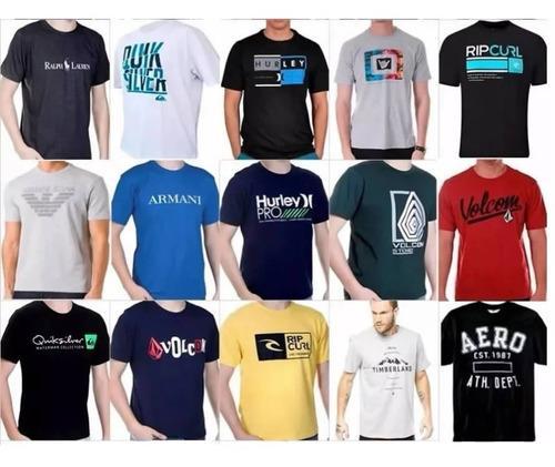 kit 10 camisa masculina hollister quiksilver oakley armani