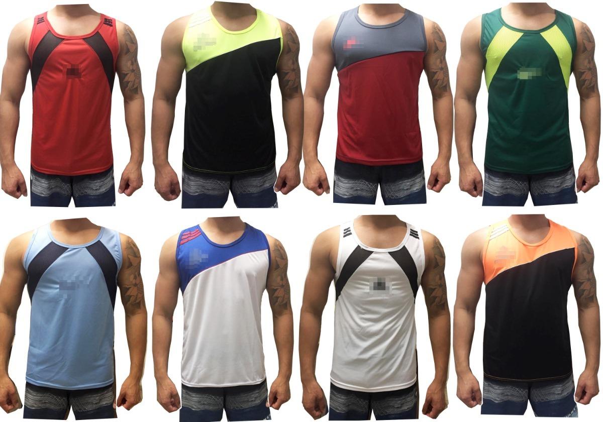 ee5a35e1b2 kit 10 camisa masculina regata poliéster dry fit esportes . Carregando zoom.