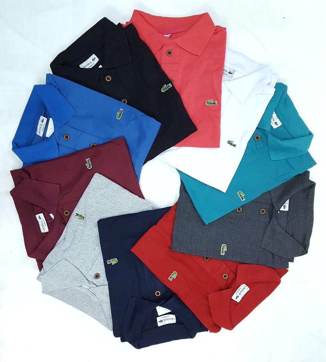 ba58900125 Kit 10 Camisa Polo Camiseta Jacaré Social Masculina - R  215