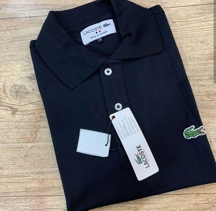 c1e178a7318 Kit 10 Camisa Polo Lacoste Masculina Peruana - R  880