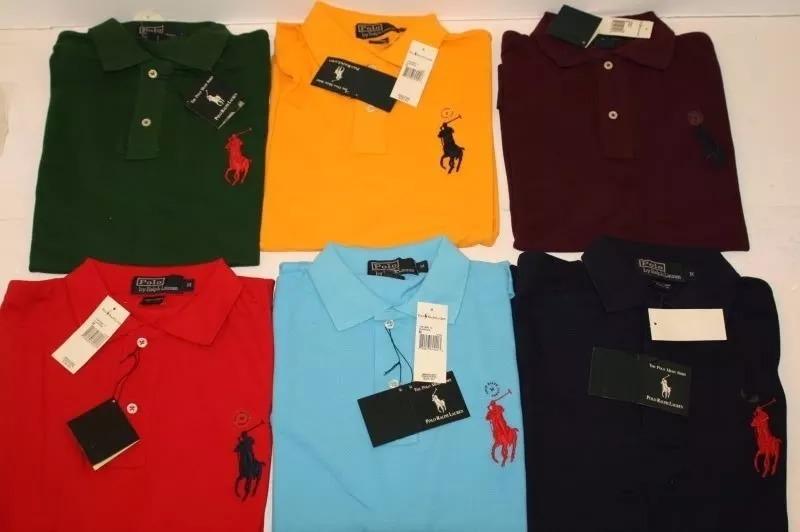 Kit 10 Camisa Polo Masculina Atacado Camiseta Frete Gratis - R  169 ... 3aae4fe053308