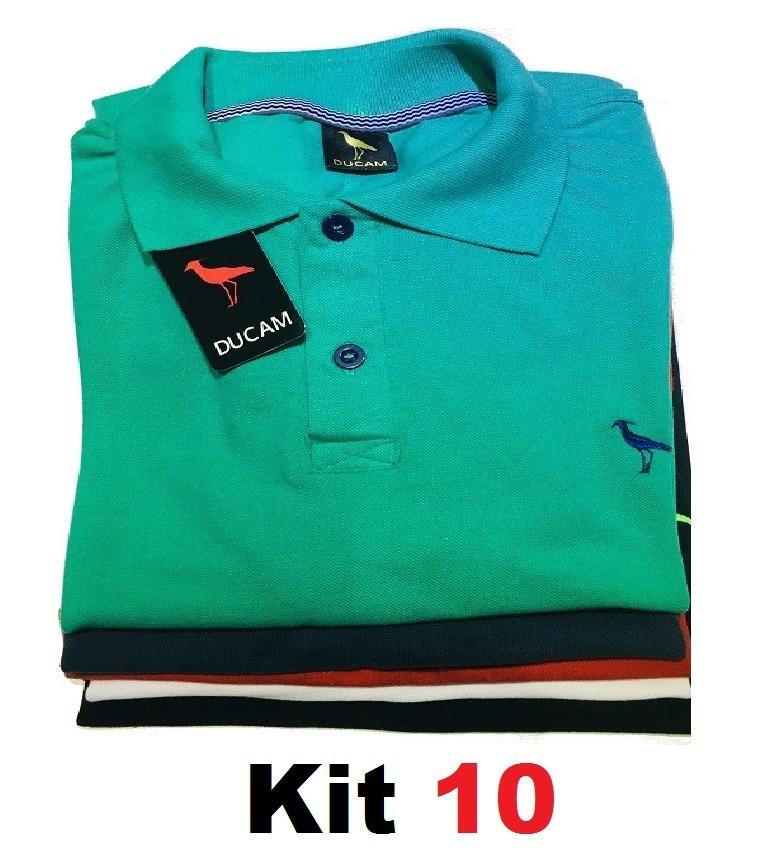 Kit 10 Camisa Polo Masculina  Frete Grátis  Atacado Revenda. - R ... b438c36cc4961