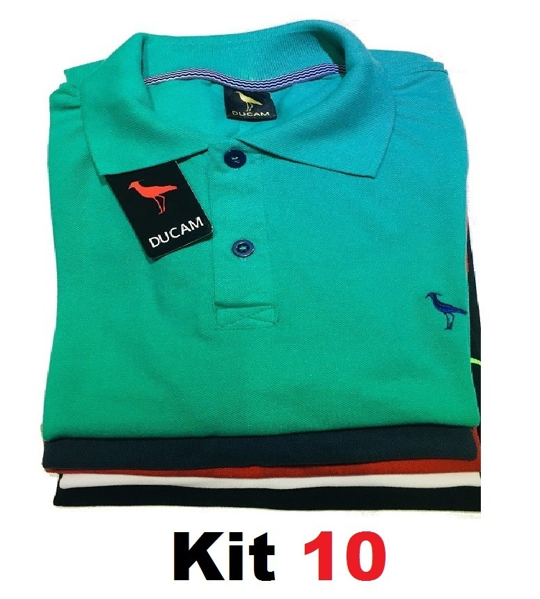 Kit 10 Camisa Polo Masculina  Frete Grátis  Atacado Revenda. - R ... c26349ee9f50b