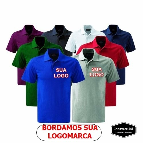 Kit 10 Camisa Polo Personalizada Sua Logo Bordada - R  350 d7059bfb4dd9d