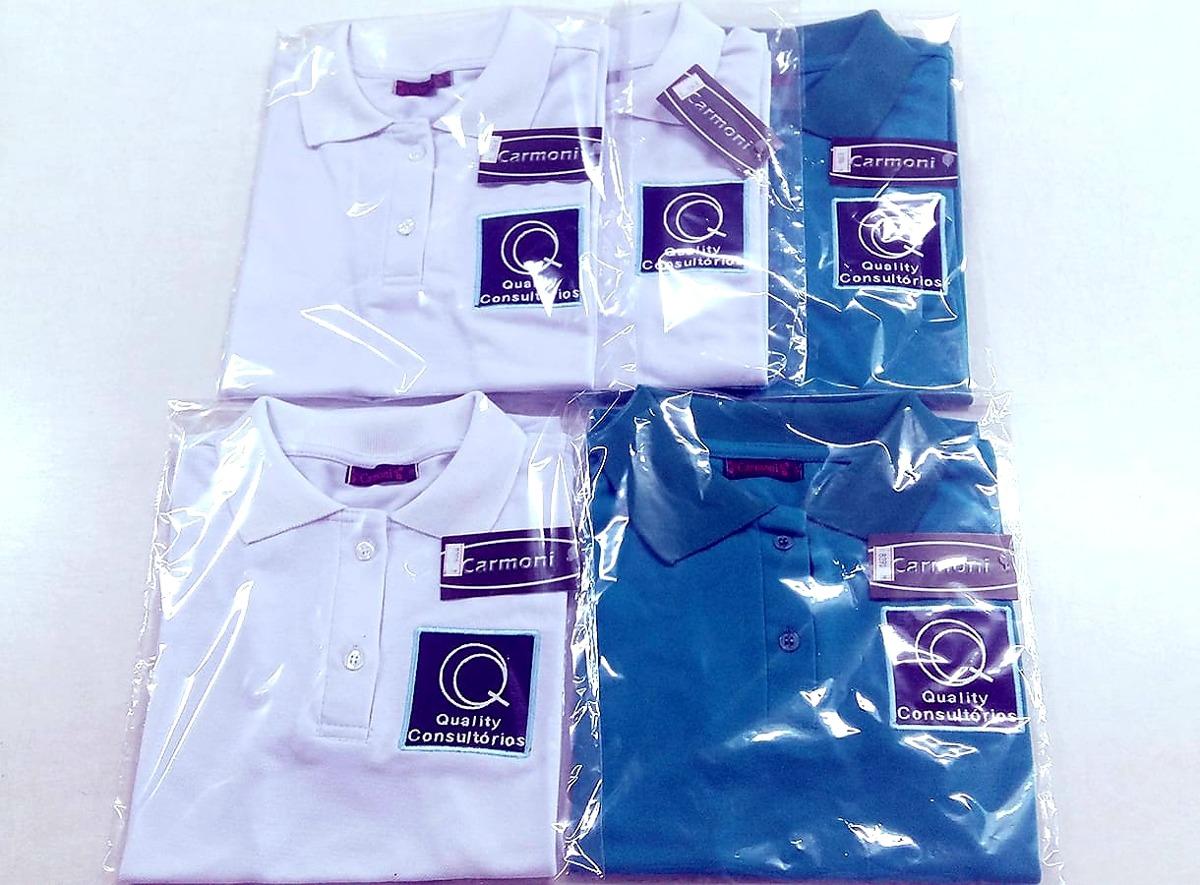 kit 10 camisa polo uniforme bordado frente+costa. Carregando zoom. 751d37cd28bef