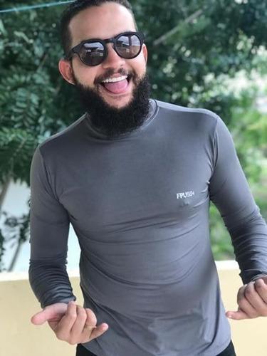 kit 10    camisa térmica proteção uv solar fator 50