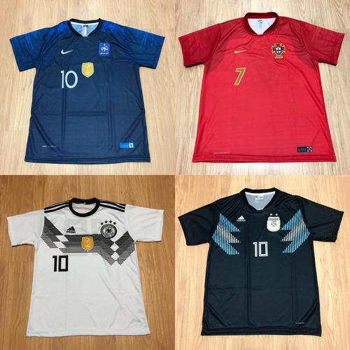 aa4cb5e8cea30 Kit 10 Camisas De Time Futebol 100 Modelos 2018 Atacado - R  185