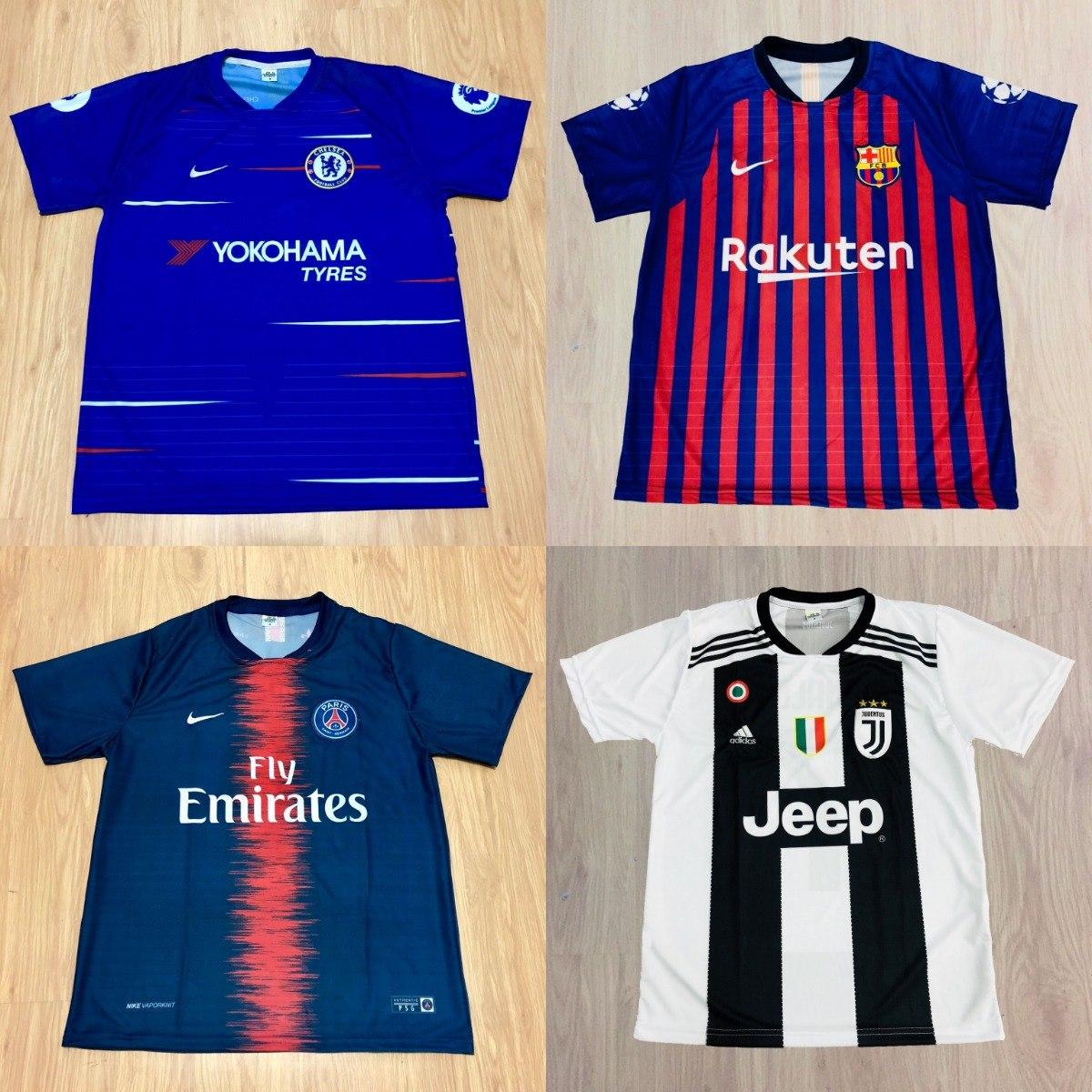Kit 10 Camisas Futebol 100 Modelos Diferentes 2018 Atacado - R  185 ... b066f5943e13a