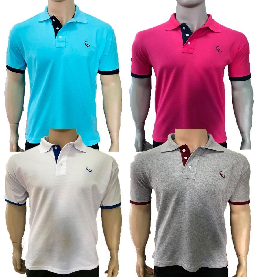 029c0a4701 kit 10 camisas gola polo basica masculina atacado uniforme. Carregando zoom.