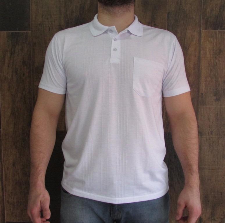 e7fe442b74fd4 Kit 10 Camisas Gola Polo Poliviscose Canelada Com Bolso - R  579