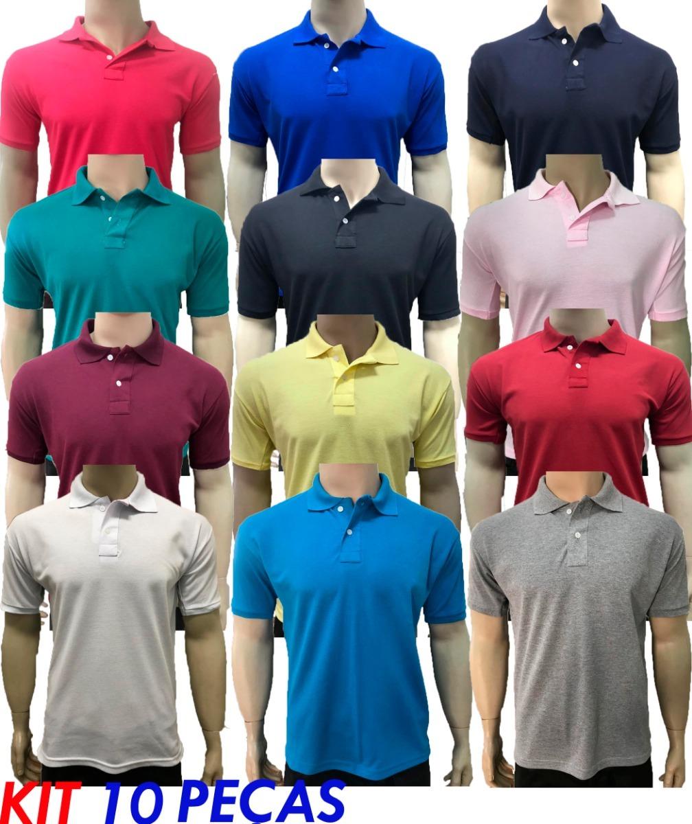 kit 10 camisas gola polo várias marcas grifes revenda lucre. Carregando zoom . 8422da5921d56