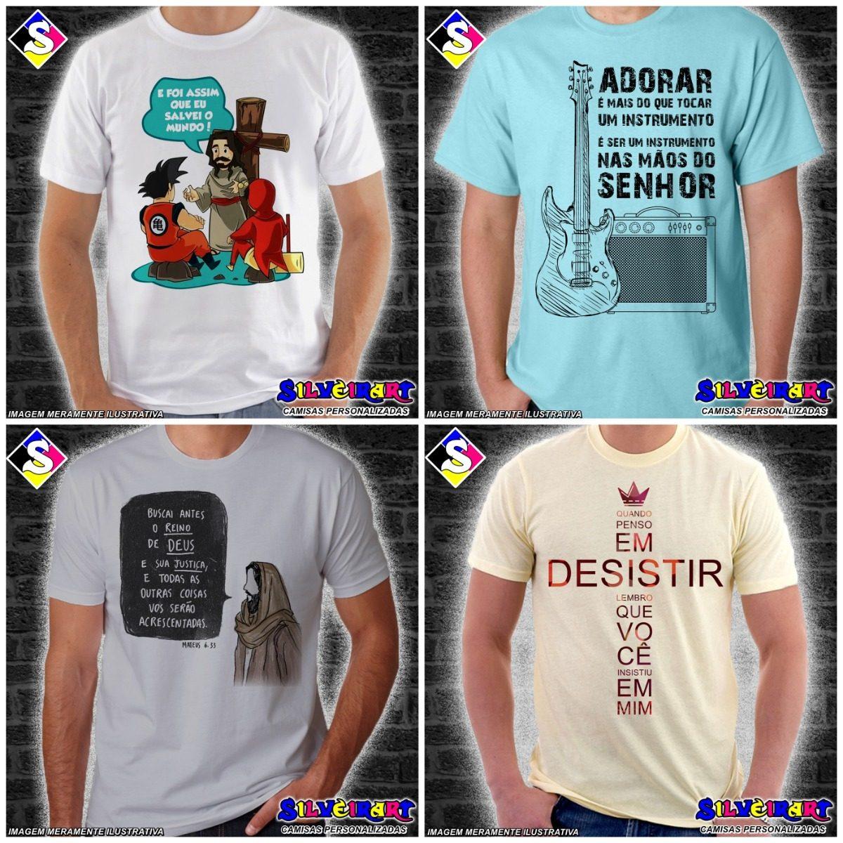 cc12f3c8c3d55 Kit 10 Camisas Gospel Personalizadas - Silveirart - R$ 250,00 em ...