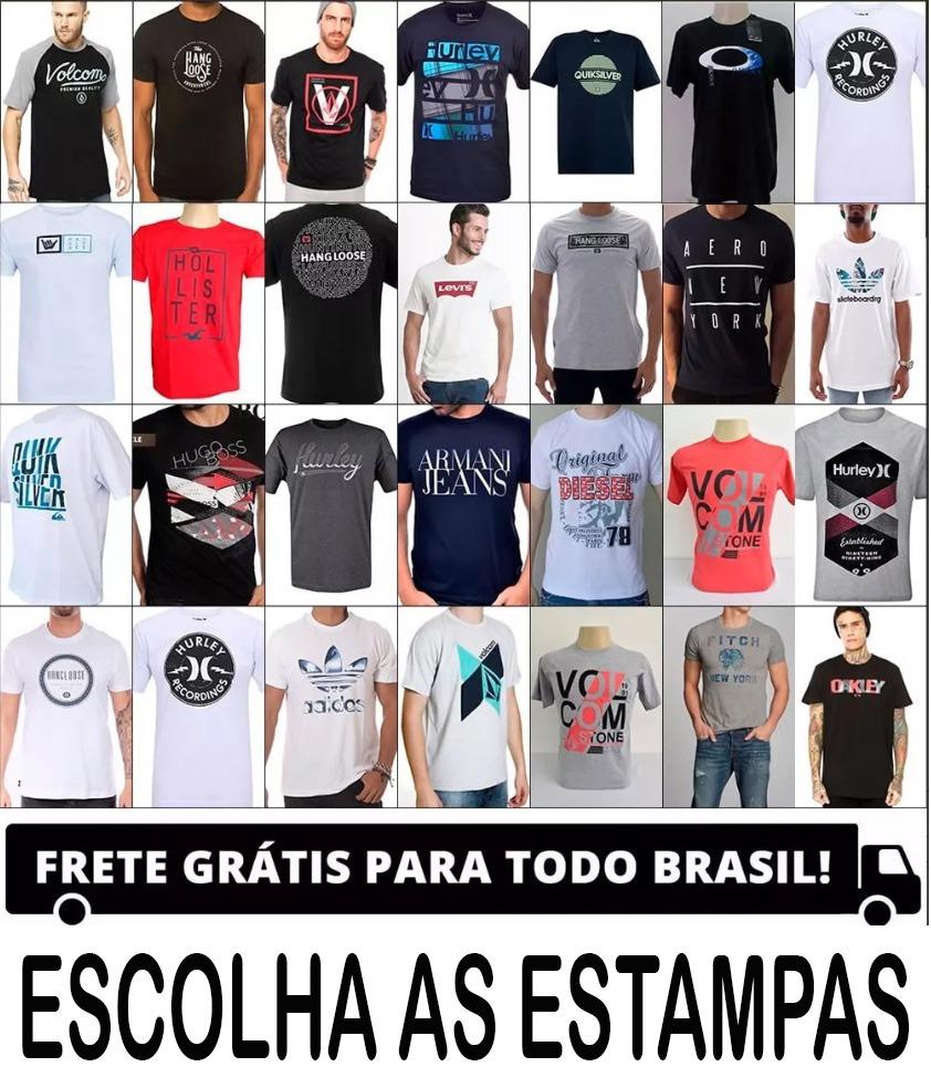 Kit 10 Camisas Grandes Marcas De Surf Atacado Camiseta Blusa - R ... d84c16387b98a