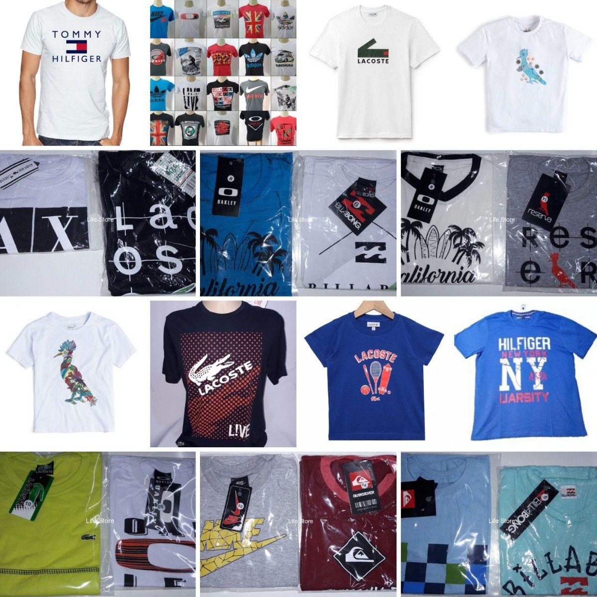 Kit 10 Camisas Infantil Marcas Famosas Atacado Revenda - R  185,90 ... 6d7646f035