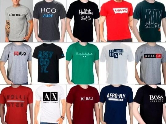 93ce5c463 Kit 10 Camisas Masculina Revenda - R  139