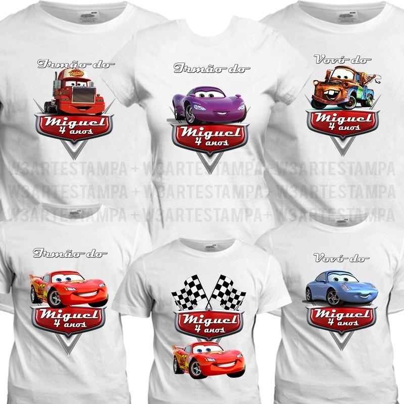 1a158fca8c88f kit 10 camisas personalizada carros disney aniversário blusa. Carregando  zoom.