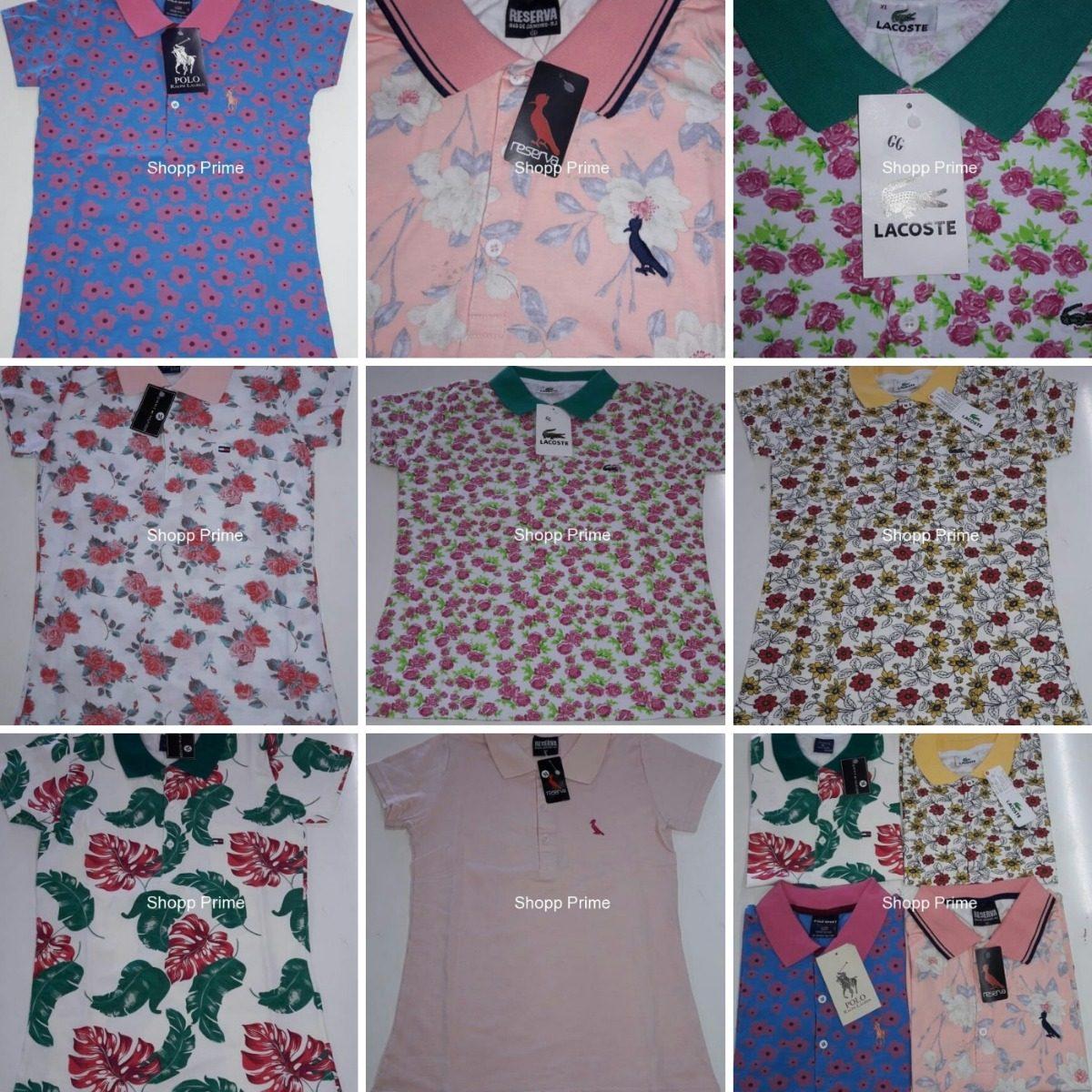 kit 10 camisas polo feminina marcas famosas revenda atacado. Carregando  zoom. a79417e00d0a4