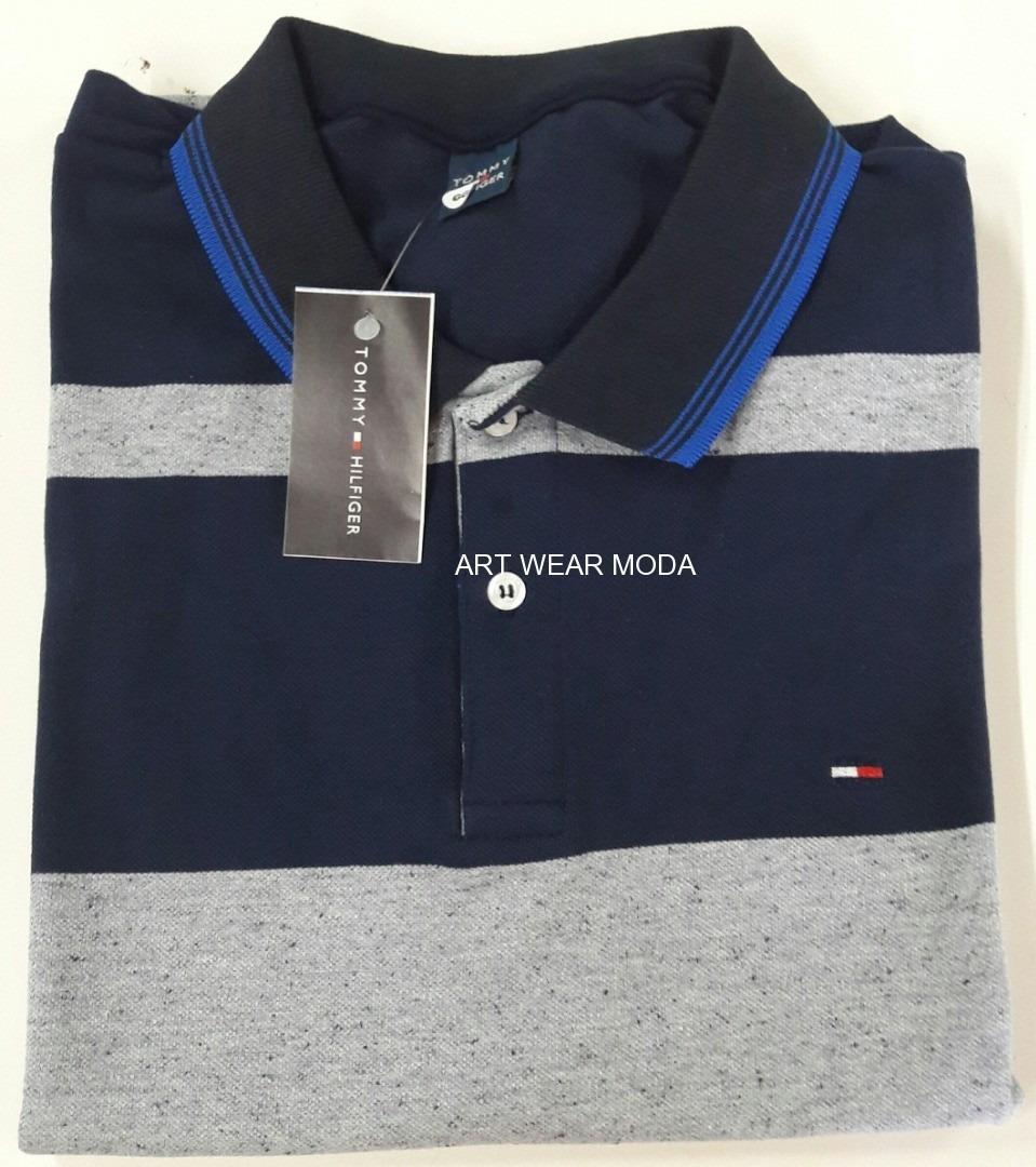 5e90ff67441 Kit 10 Camisas Polo Listradas Multimarcas Qualidade Superior - R ...