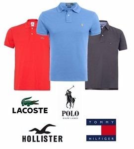 Kit 10 Camisas Polo Luxo Camisetas Masculinas Atacado - R  183,99 em ... 270acc1d3e