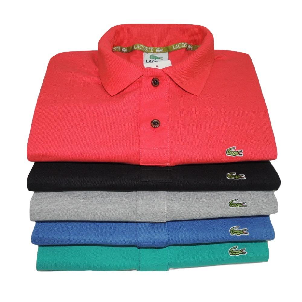Kit 10 Camisas Polo Luxo Camisetas Masculinas Atacado - R  183 2e0761a6a7978