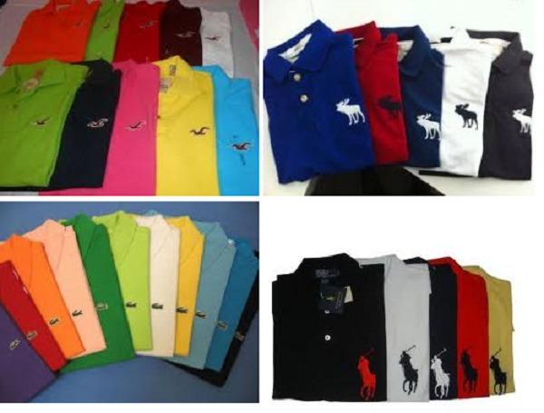 9fcf7b038523b Kit 10 Camisas Polo Masculina Atacado Diversas Marcas! - R  210