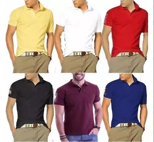 8d6a923511 Kit 10 Camisas Polo Masculina Atacado Revenda Varias Marcas - R  238 ...